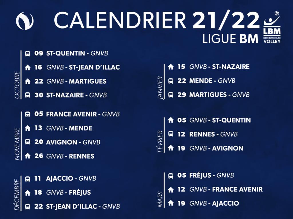 Le calendrier de la saison 2021/2022 est sorti !