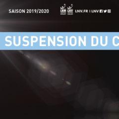 SUSPENSION DU CHAMPIONNAT – 13/03/2020