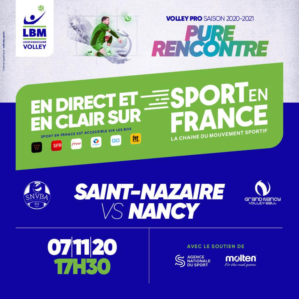 Retransmission du match SNVBA – GNVB sur la chaine Sport En France