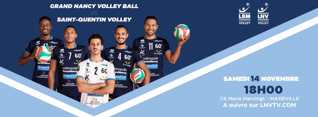 Grand Nancy Volley Ball – Saint-Quentin Volley